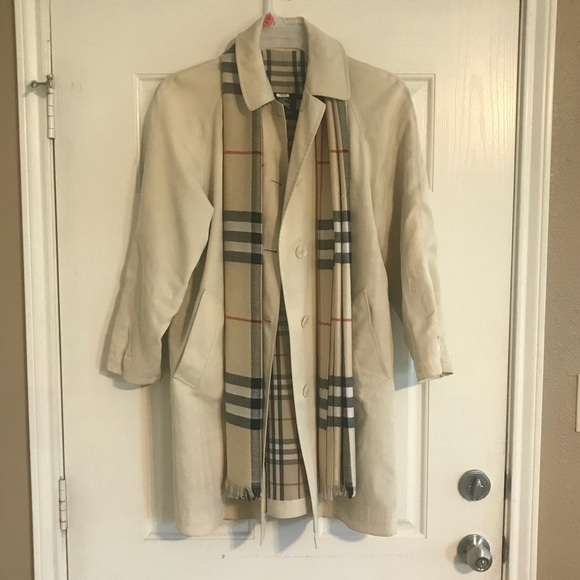 Burberry Trench Coat & Scarf
